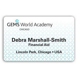 "Laminated Personalized Name Badge (2.125""x3.375"") Rectangle"