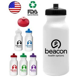 USA Made 20 oz Sports Water Bottle