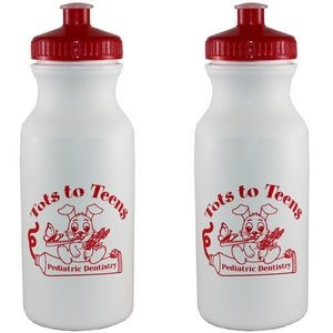 20 Oz. White Bottle w/Push-Pull Lid