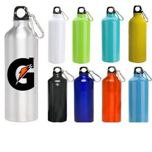 USA PRINTED 24 oz Oryza Aluminum Performance Sports Water Bottle With Carabiner and Twist Cap