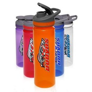 22 Oz. Plastic Sports Bottles with Flip Lid