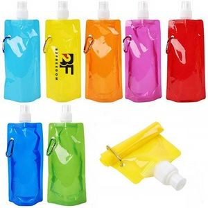 17oz Collapsible Water Bottle With Carabiner