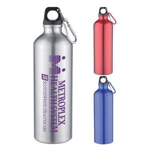 25 Oz Aluminum Sports Bottle With Twist Off Lid & Carabiner