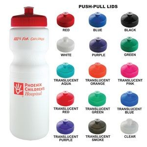 28 Oz White Plastic Water Bottle With your Choice of Lid Color