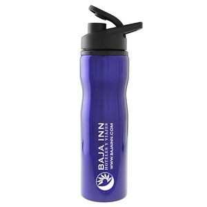 Madison 25 Oz. Stainless Steel Sports Bottle (Blue)