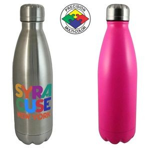 17 Oz. Pink Swig Vacuum Insulated Water Bottle (Screen Printed)