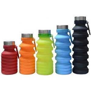 18 Oz Foldable Silicone Water Bottle