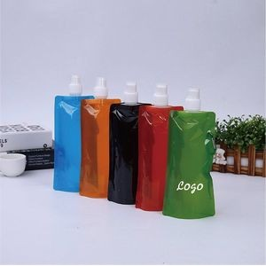 16oz Collapsible Water Bottle With Carabiner